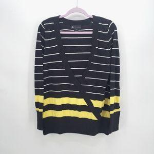 Lane Bryant Faux Wrap Striped Sweater